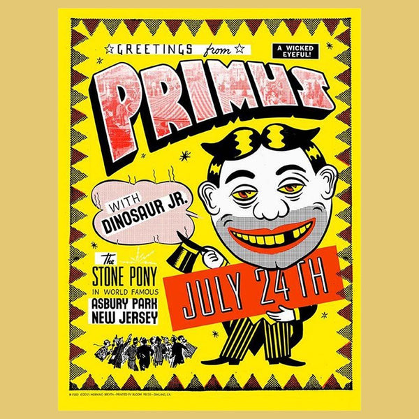 PRIMUS - Jul 24th 2015 - Asbury Park, NJ Poster