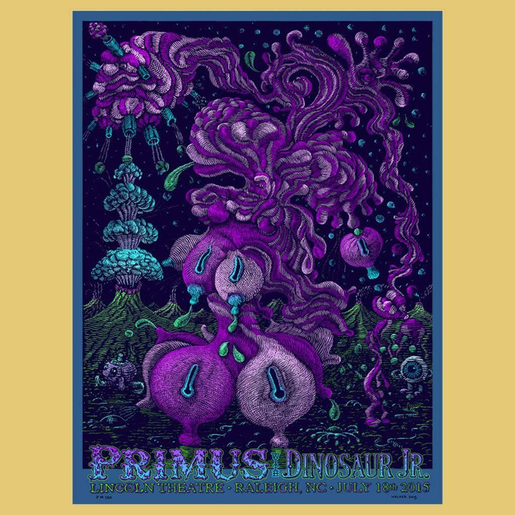PRIMUS - Jul 18th 2015 - Raleigh, NC Poster