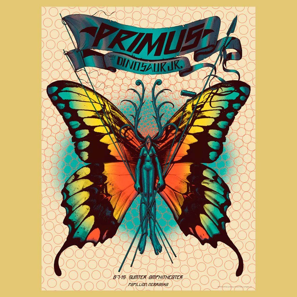 PRIMUS - Aug 7th 2015 - Papillon, NE Poster
