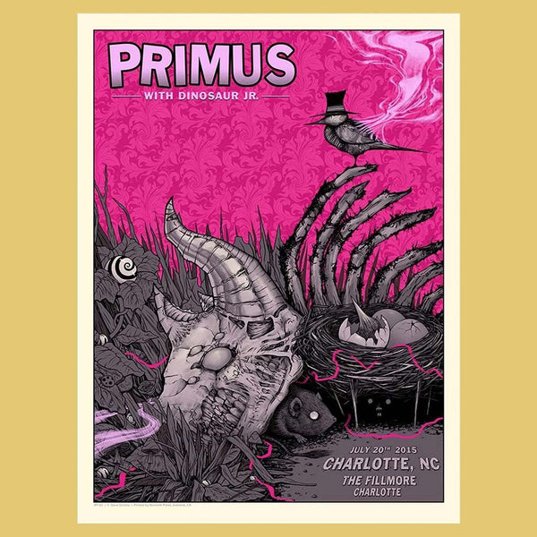 PRIMUS - Jul 20th 2015 - Charlotte, NC Poster