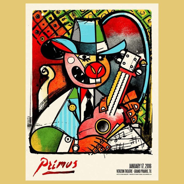 PRIMUS - Jan 17th 2016 - Grand Prairie, TX Poster