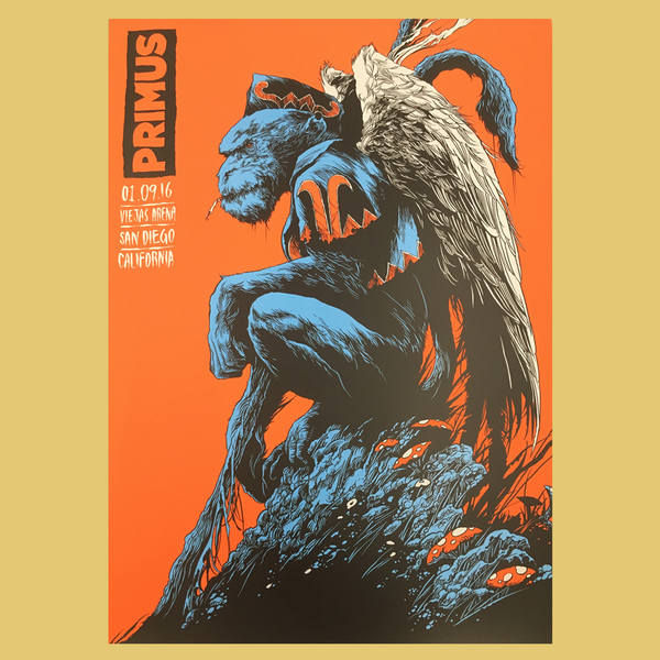 PRIMUS - Jan 9th 2016 - San Diego, CA Poster