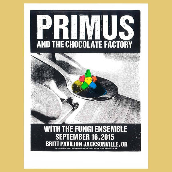 PRIMUS - Sep 16th 2015 - Jacksonville, OR Poster