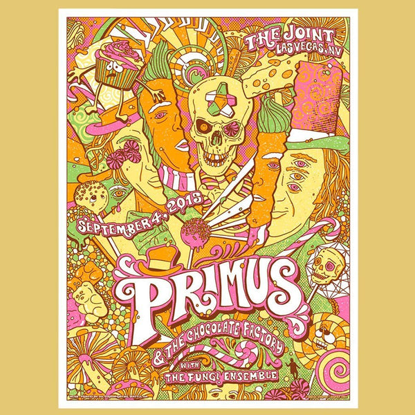 PRIMUS - Sep 4th 2015 - Las Vegas, NV Poster