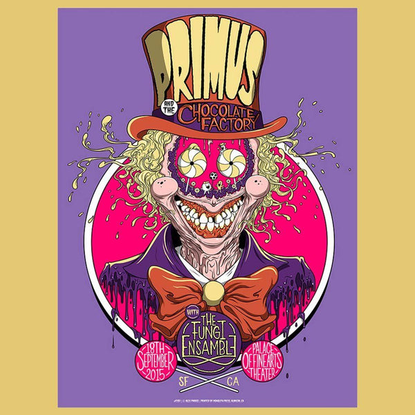 PRIMUS - Sep 18th 2015 San Francisco, CA Poster