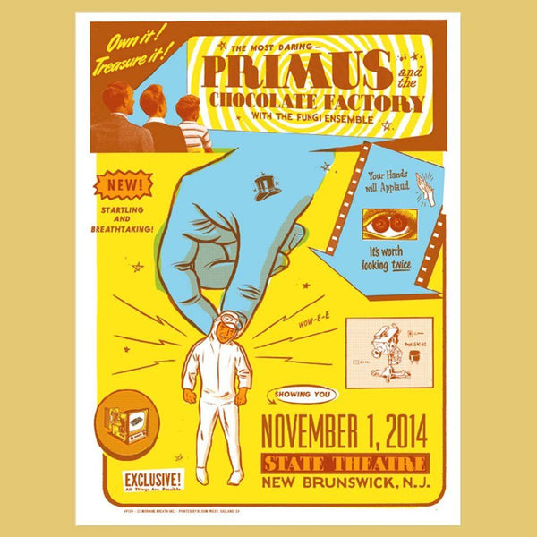 PRIMUS - Nov 1st 2014 - New Brunswick, NJ Poster
