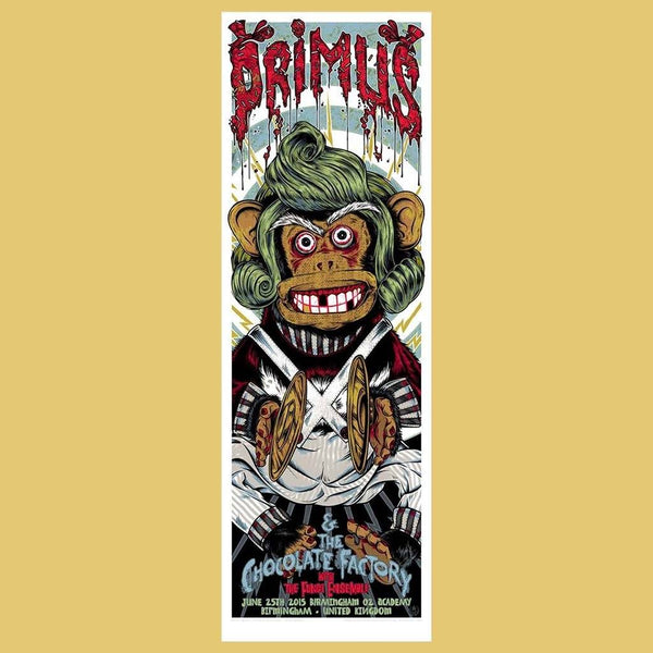 PRIMUS - Jun 25th 2015 - Birmingham, UK Poster