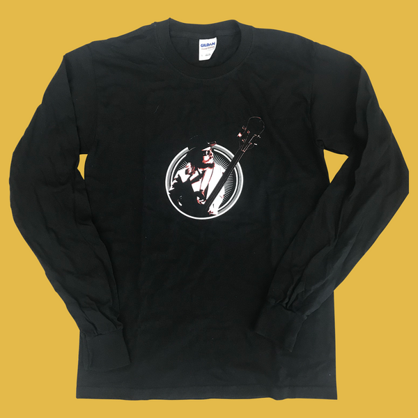 Les Claypool - Long-Sleeve Bass Burst T-Shirt (Black)