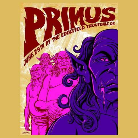 Primus - Edgefield Poster PRIMUS ONLY