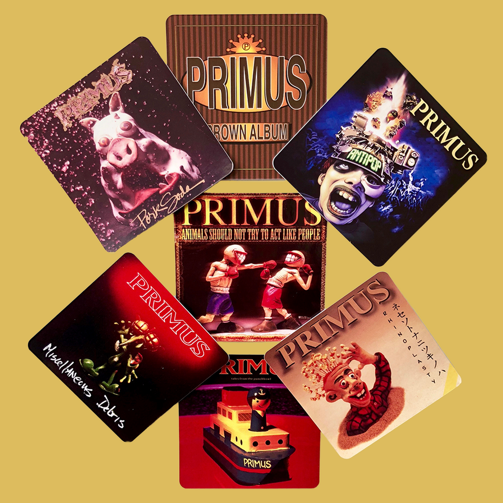 Primus - 7 Album Cover Sticker Pack