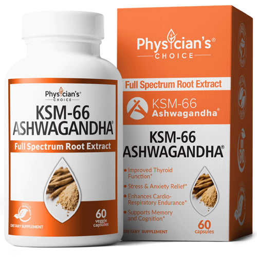 Physician's Choice KSM-66 ASHWAGANDHA 60caps