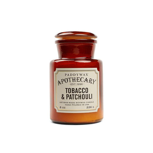 PADDYWAX Apothecary Candle Tobacco & Patchouli 8oz