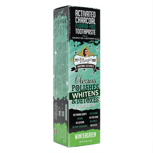 MY MAGIC MUD Activated Charcoal Toothpaste for Whitening - Wintergreen