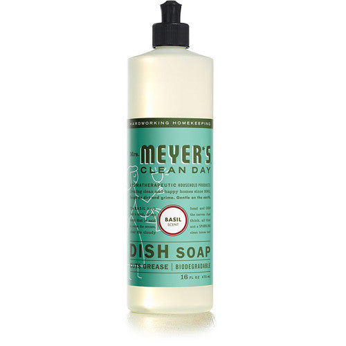 Mrs Meyer's Liquid Dish Soap Basil 16oz