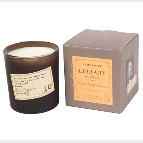 PADDYWAX Library Candle Ralph Waldo Emerson 6.5oz