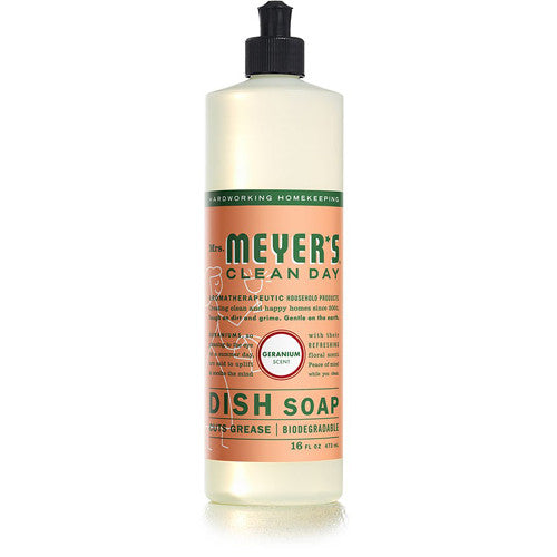 Mrs Meyer's Liquid Dish Soap Geranium 16oz