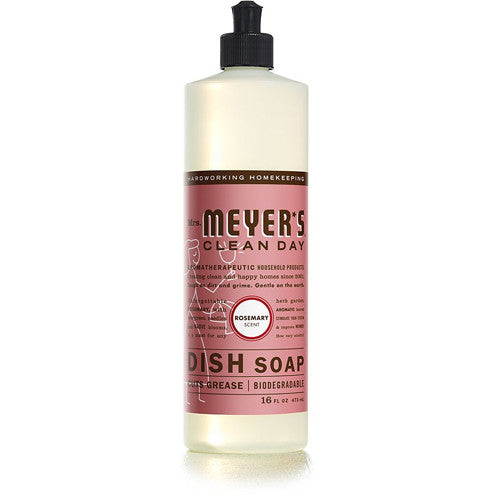 Mrs Meyer's Liquid Dish Soap Rosemary 16oz