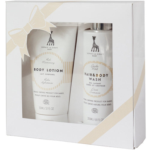 Sophie La Girafe Cosmetics Baby Body Lotion and Hair & Body Wash Set