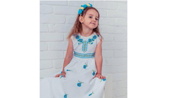 Embroidered Beaded Girls Dresses