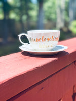 """Unapologetically Black"" Tea Cup and Saucer"