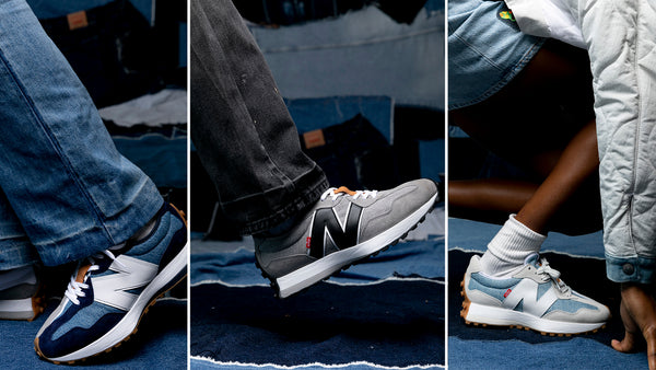 Levi's Overlays Denim and Suede in New Balance 327 Collaboration