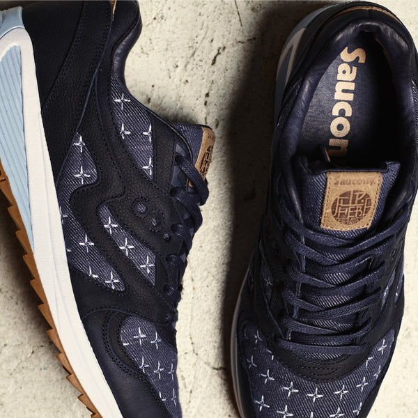 Saucony x Up There Saucony Grid 8000 'Sashiko' Release Info