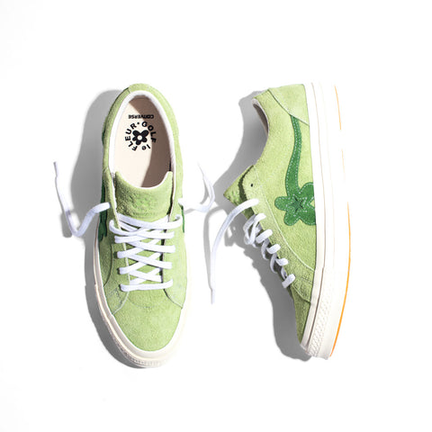 82fbe342e8f0f3 Continuing with their ongoing collaboration between Tyler the Creator and  Converse comes the next step in the Golf Le Fleur collection with three new  shoes ...
