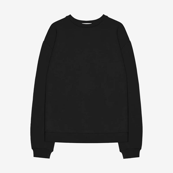 Oversized Crewneck Pullover Black