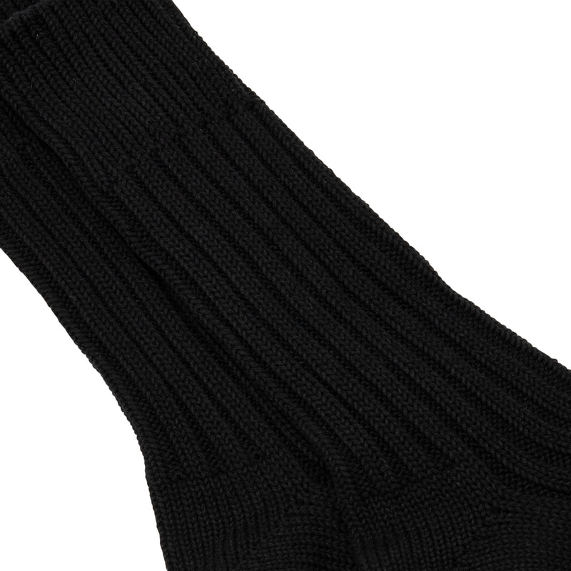 Cased Heavyweight Socks Plain Black