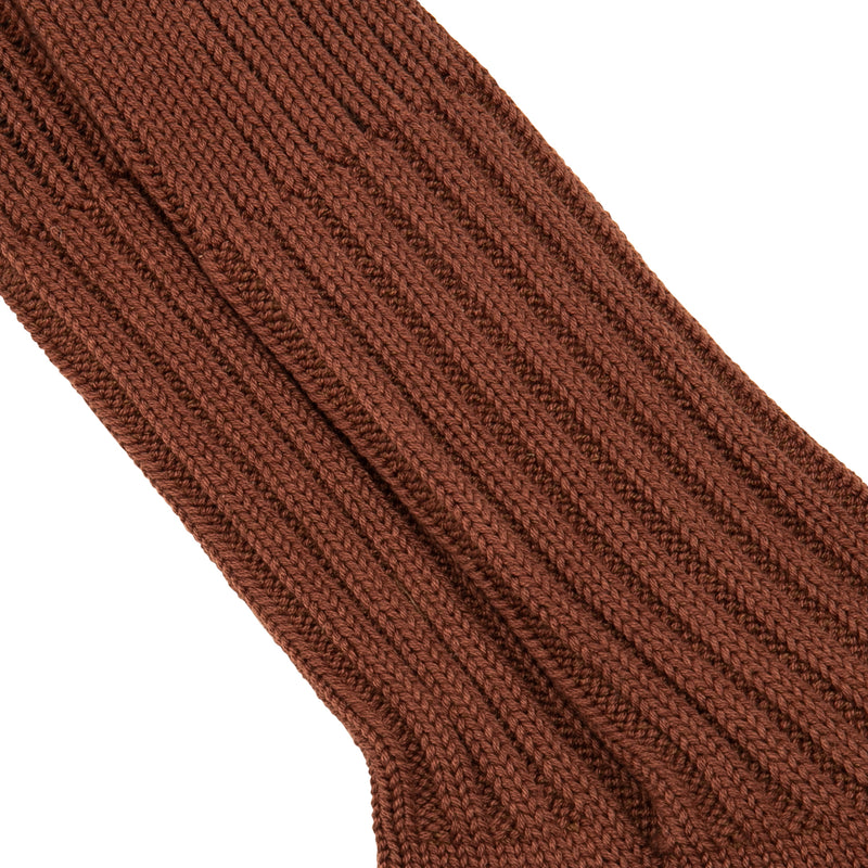 Cased Heavyweight Socks Plain Brown