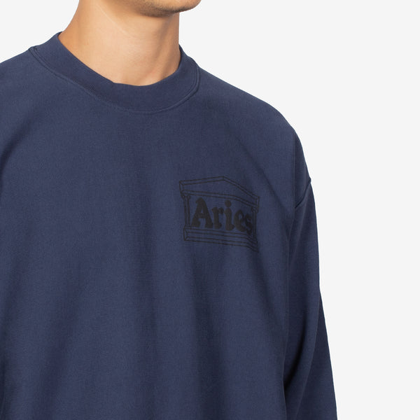 Classic Temple Sweatshirt Navy