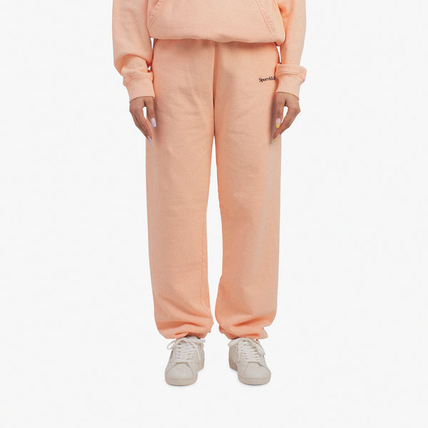 Serif Logo Sweatpant Peach Pie
