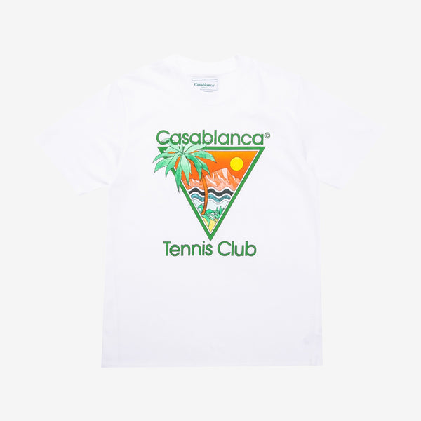 Tennis Club Icon Screen Printed T-Shirt White