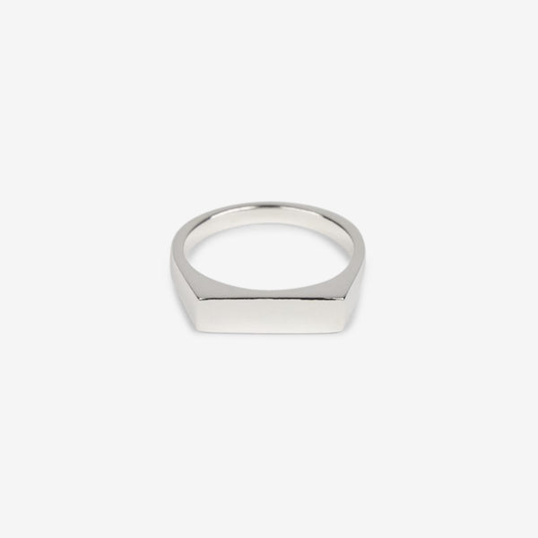 Type 002 Rectangle Narrow Signet Silver