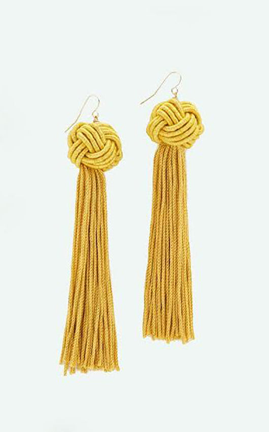 Tassel Earrings - Mustard
