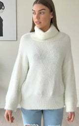 Roll Neck Knit - White