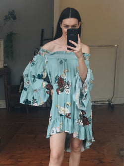 Botanic Off Shoulder Dress