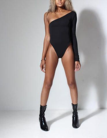 Cold Shoulder Bodysuit Black