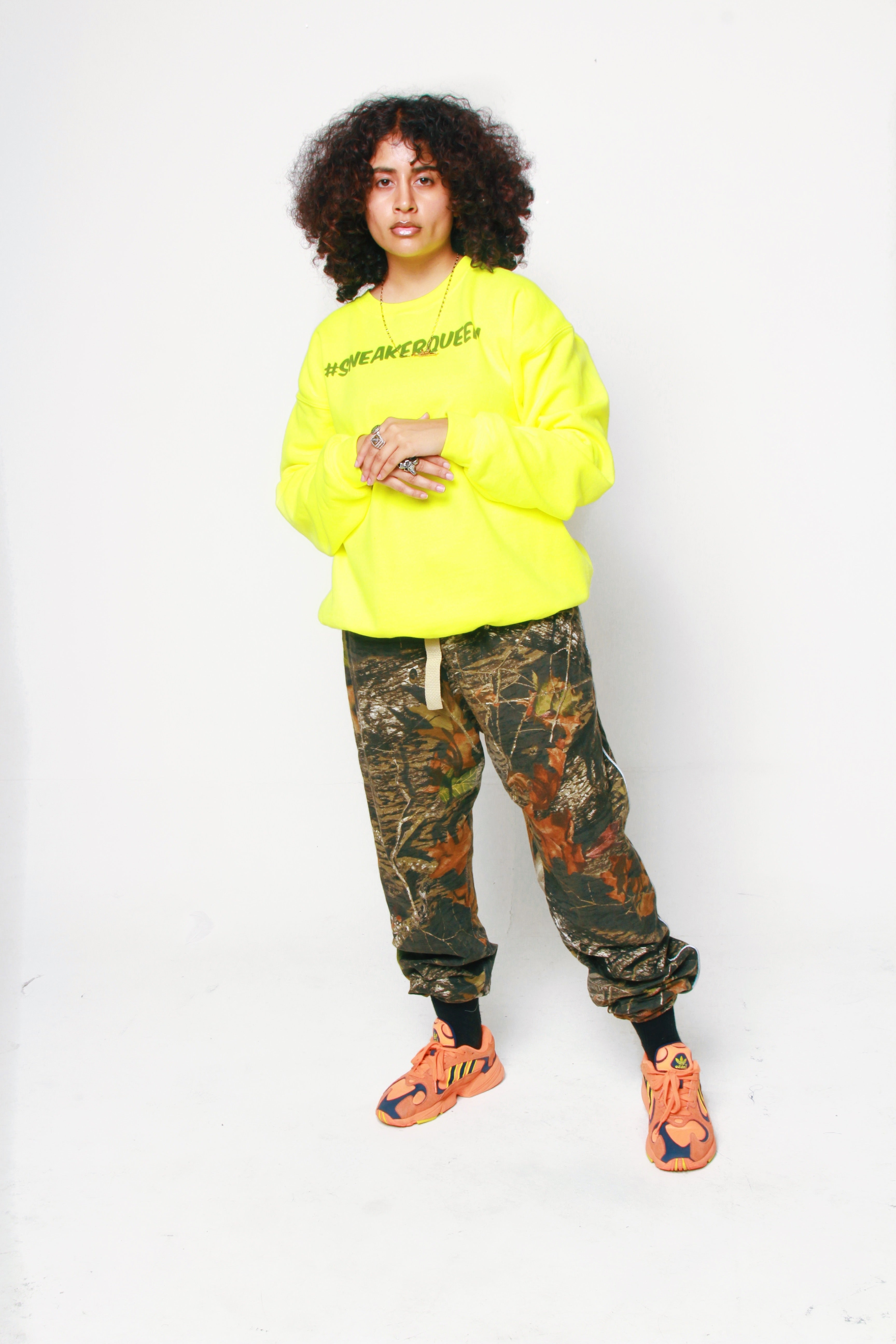 Sneaker Queen Crewneck- Lime Green