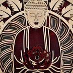 Anami Buddha - Qreative Qick Wall Art | Sacred Gift | Wooden Wall Art | Buddha Wall art |Wooden decor |Multi layer art| Decor |Wall hanging