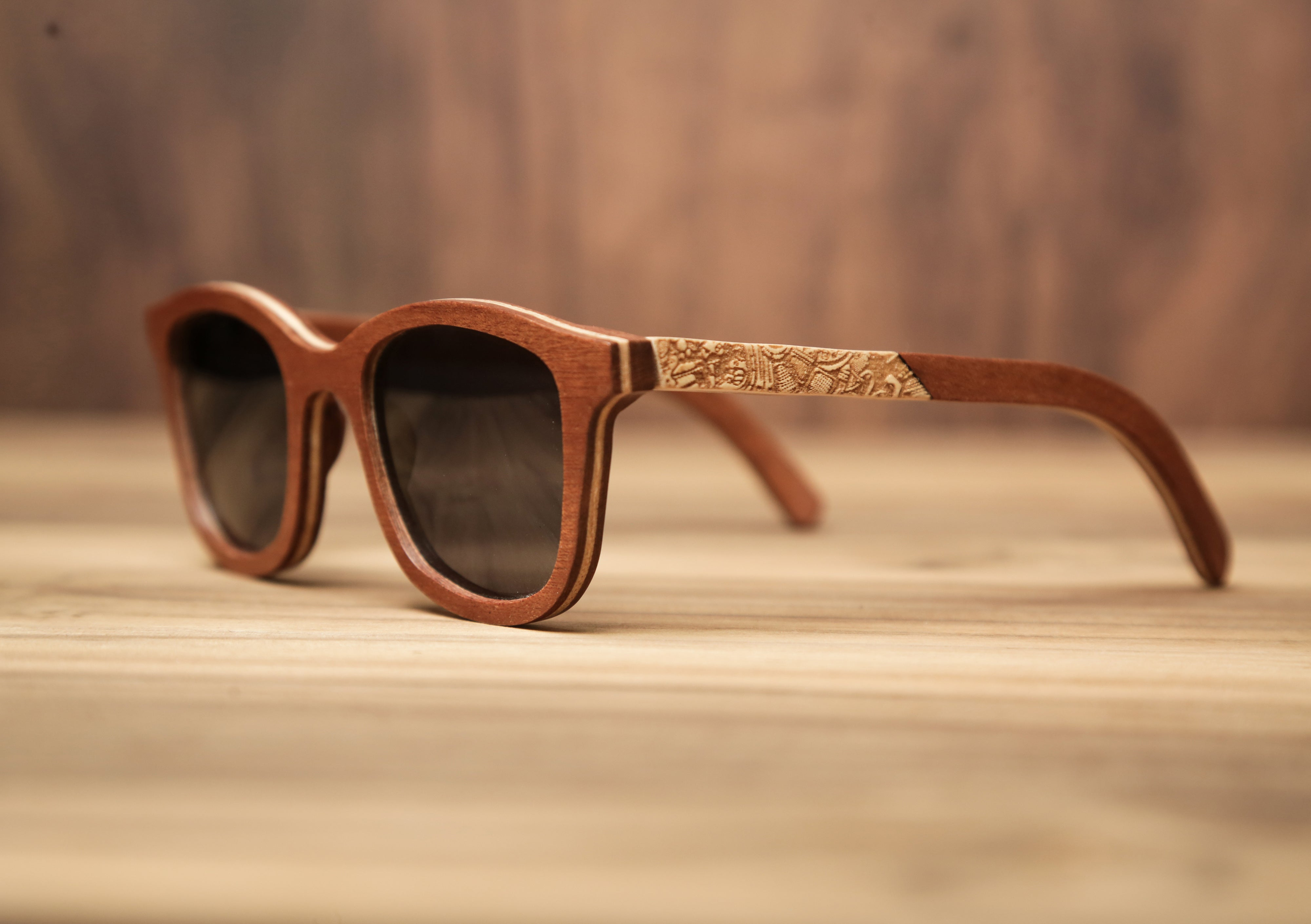 White weed | Wooden Sunglasses | Wood Prescription Frame | QQ frames