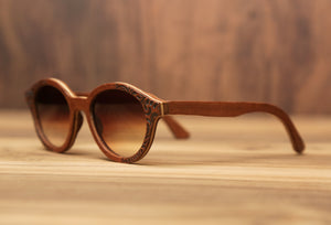 Cigar floral | Wooden Sunglasses | Wood Prescription Frame | QQ frames