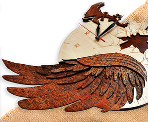 Time flies - Qreative Qick Wall Clock | Wooden Wall Art | Vintage Clocks | Clocks to Gift | Modern Clock | Wooden Clocks|Decor |Dragon clock