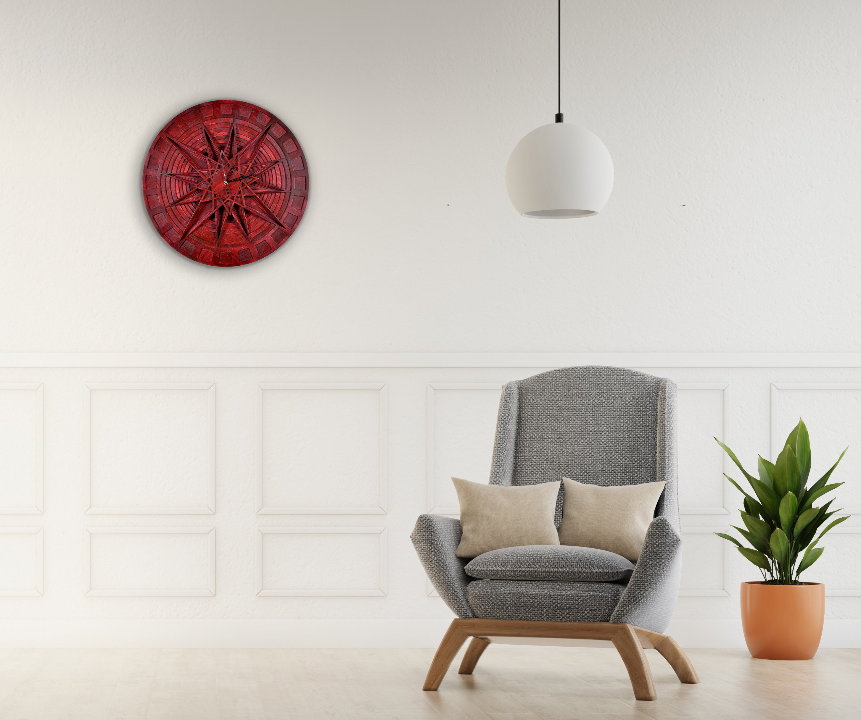 Time Depth - Qreative Qick Wall Clock | Wooden Wall Art | Vintage Clocks | Clocks to Gift | Geometry Clock | Wooden Clocks| Decor