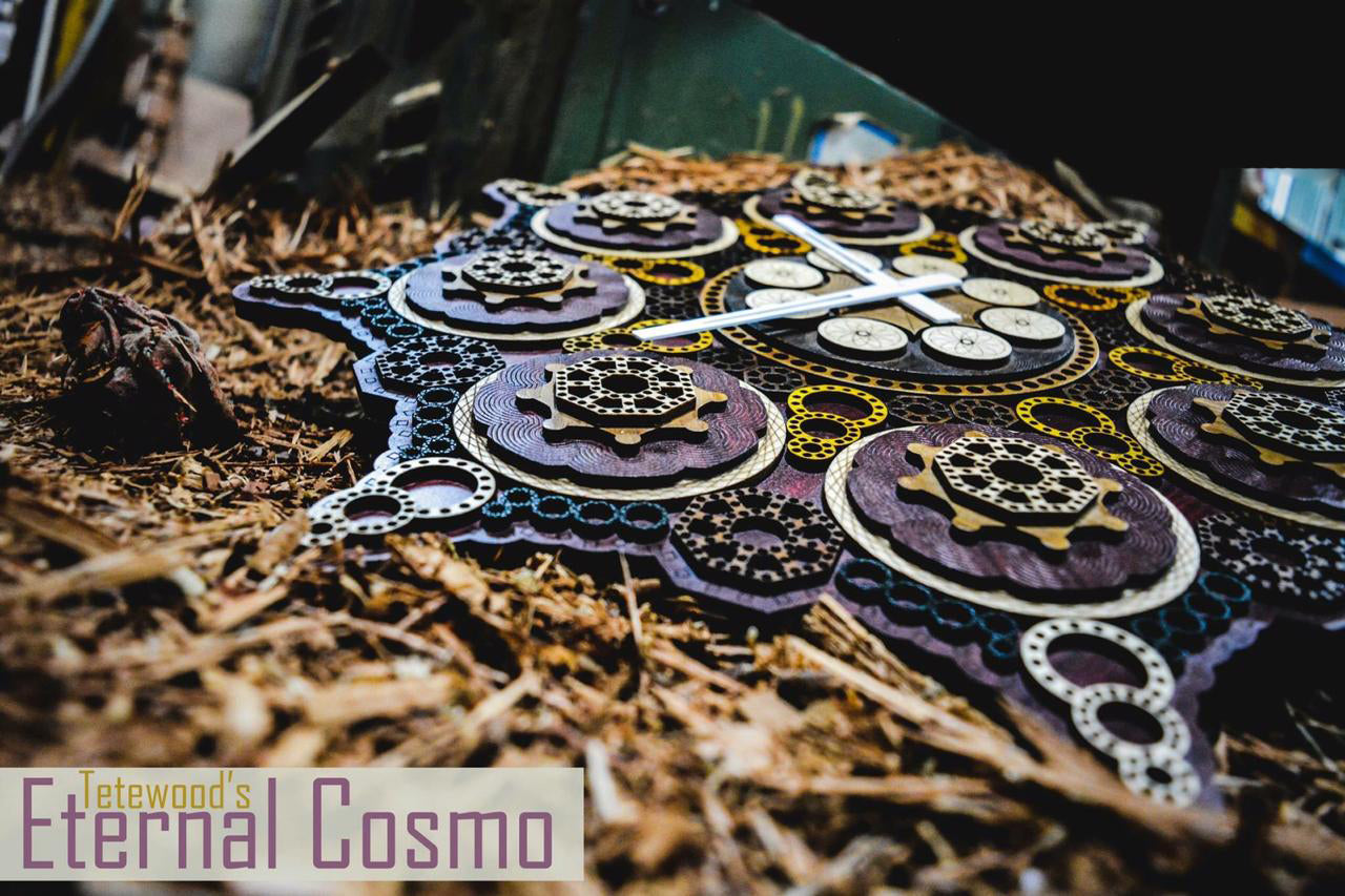 Eternal Cosmo - Qreative Qick Wall Clock | Vintage Clocks | Mandala Clock | Intricate Clocks