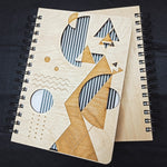 Designer geometry - Wooden Diary | Wooden Notebook |  Wooden Personalized notebook | A5 diary | Planner | Vintage Note book