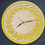 Yellow Buds | Wooden Wall Art | Colorful Clocks | Clocks to Gift | Mandala Clock | Wooden Clocks| Decor