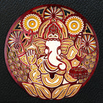 Chatur Bhuj Ganesha - Qreative Qick Wall Art | Sacred Gift | Wooden Wall Art | God Wall art |Wooden decor |Multi layer art| Decor