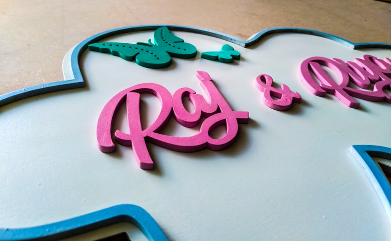 Cloudy - Qreative Qick Name board | Wooden Sign | Sign Boards