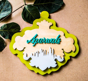 Concrete nature - Qreative Qick Name board | Wooden Sign | Sign Boards